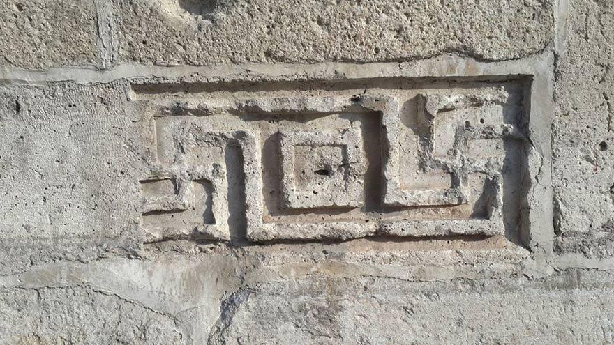 Konya'da cami minaresinde gamalı haç!
